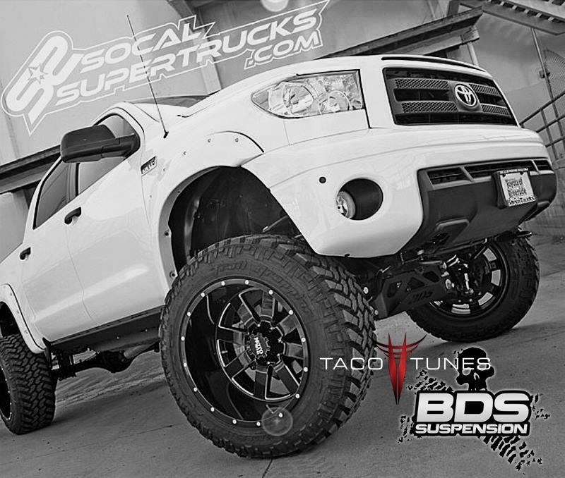 2018 Toyota Tundra Double Cab >> BDS Suspension lift kit Before and After pictures tires wheels specs