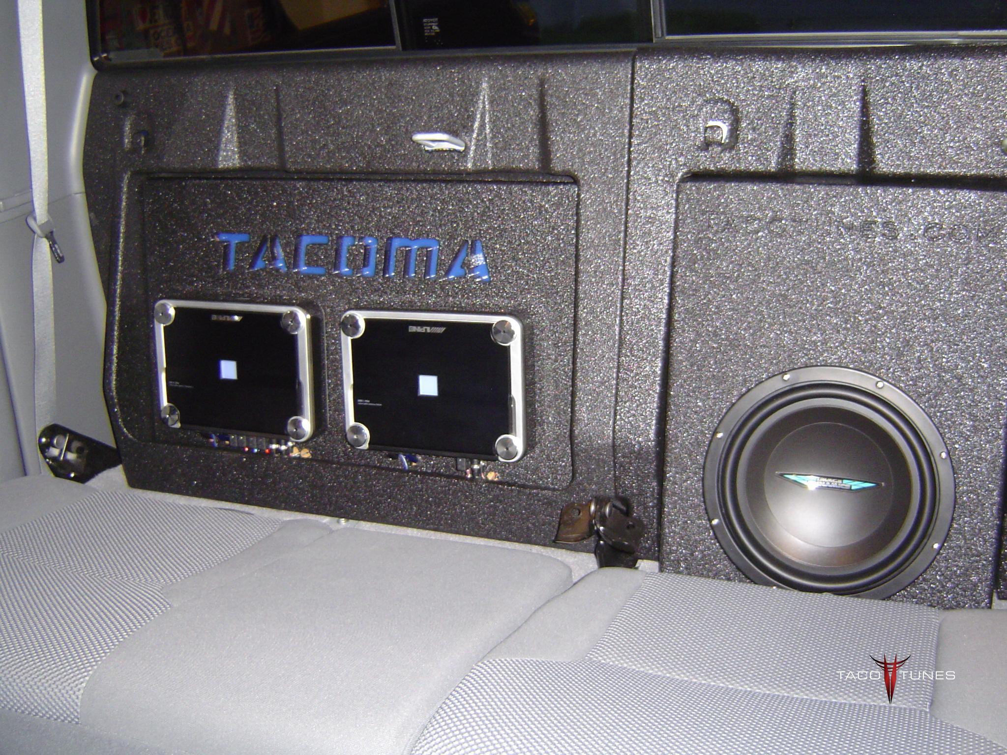amp mounting board w tacoma cutout taco tunes toyota. Black Bedroom Furniture Sets. Home Design Ideas