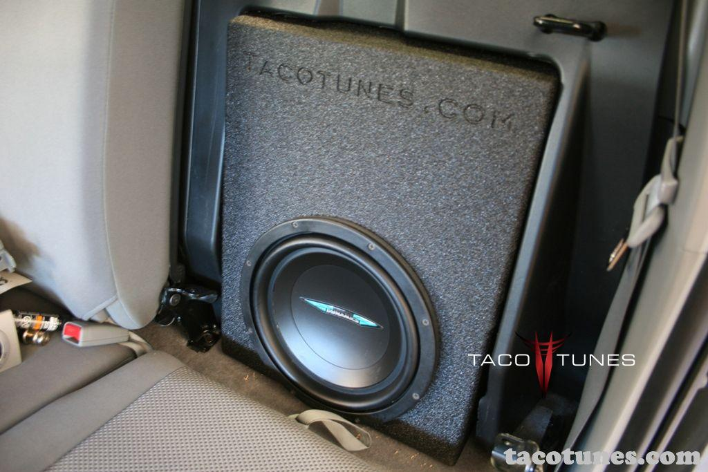 toyota tacoma double cab image dynamics subwoofer box. Black Bedroom Furniture Sets. Home Design Ideas