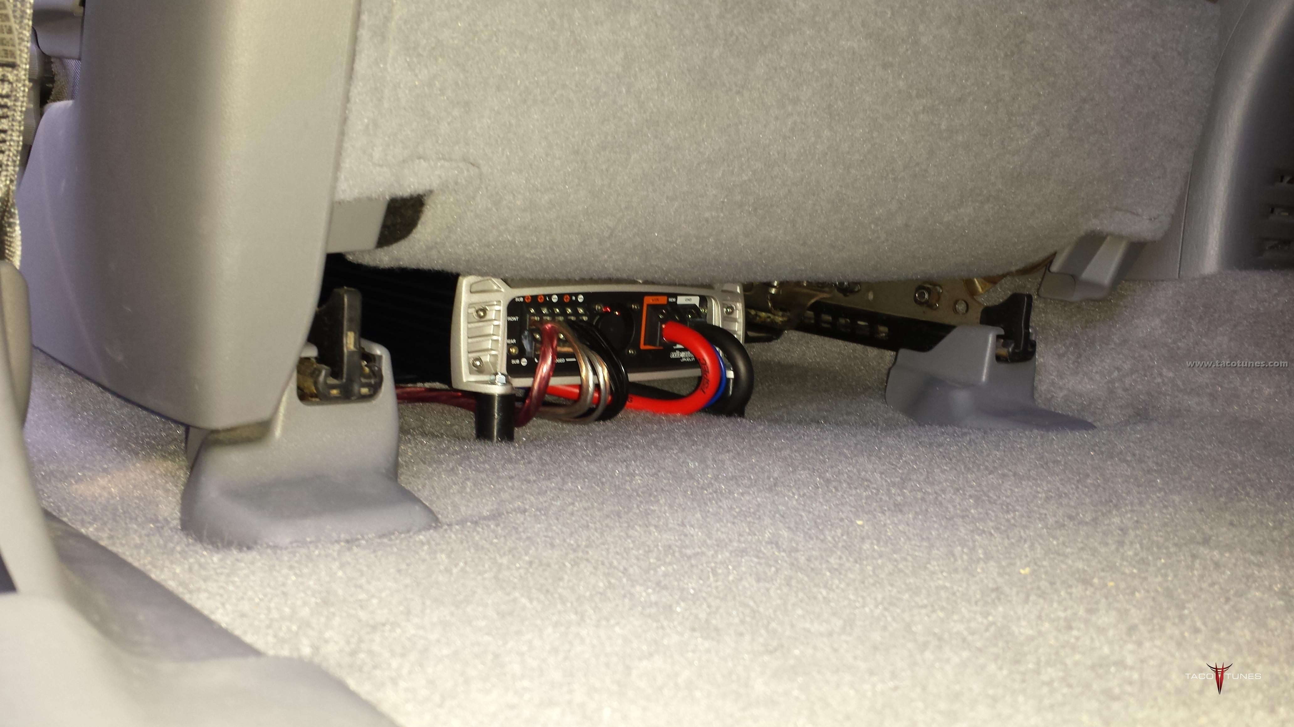 Exile Audio Javelin Amp Toyota Tacoma Under Seat Installation toyota archives taco tunes toyota audio solutions GMC Factory Stereo Wiring Diagrams at readyjetset.co