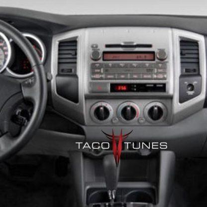 Toyota Tacoma 2005+ dash stereo installation before2