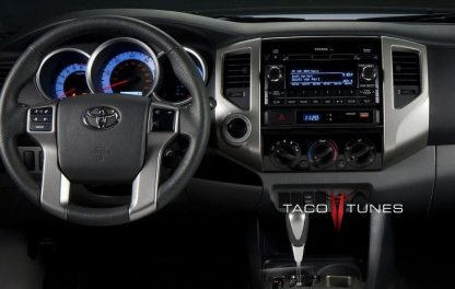 Toyota Tacoma 2012+ dash stereo installation before