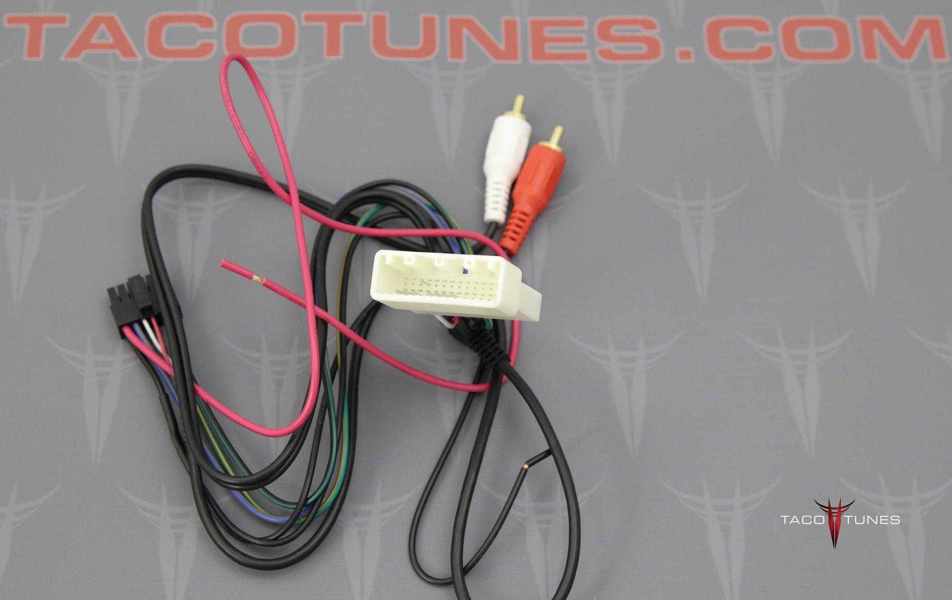 2012 Toyota Tacoma Steering Wheel Wire Harness Adapter Wiring Control Swc002
