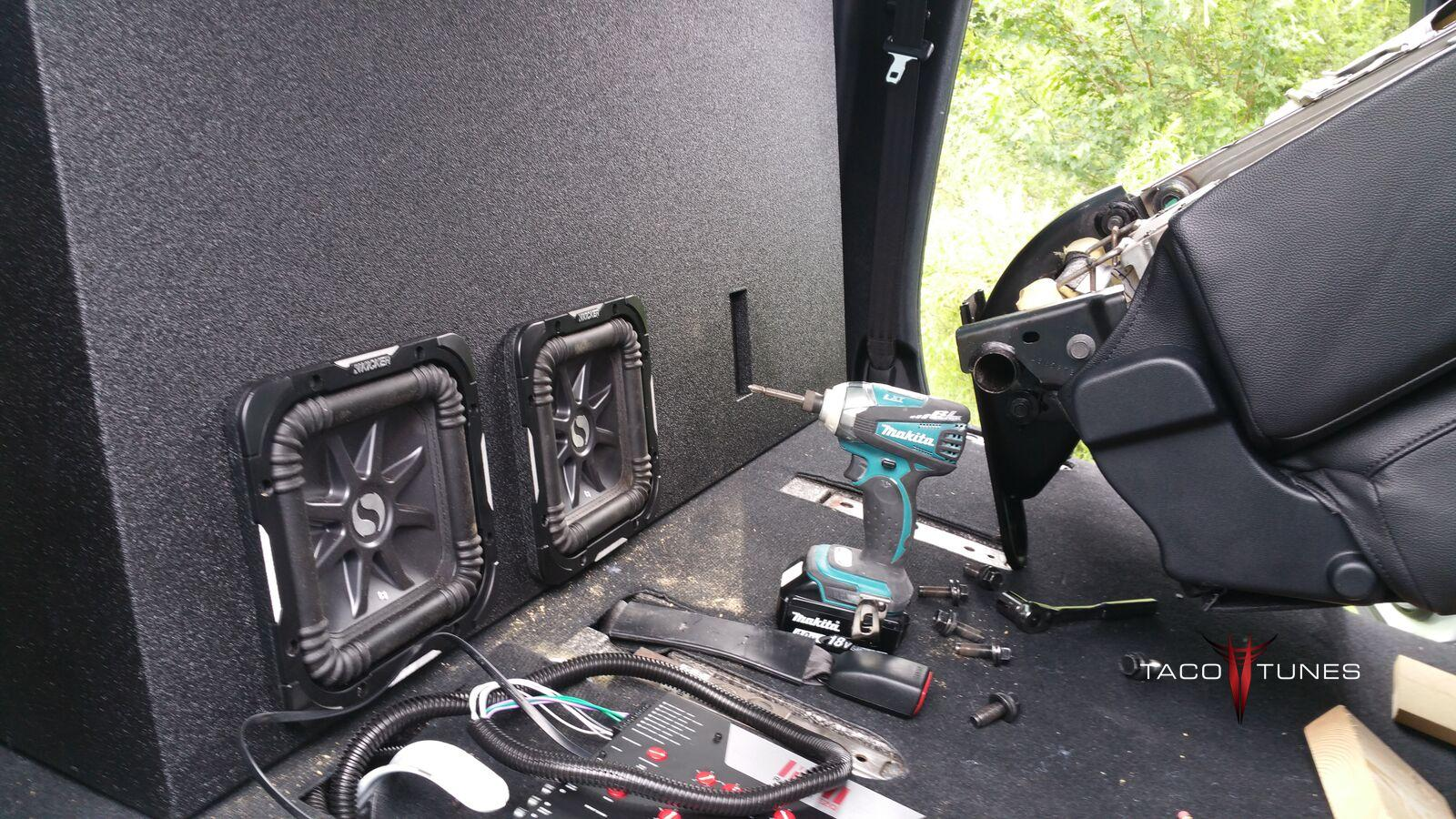 2014+ Toyota Tundra CrewMax Ported Subwoofer Box Dual
