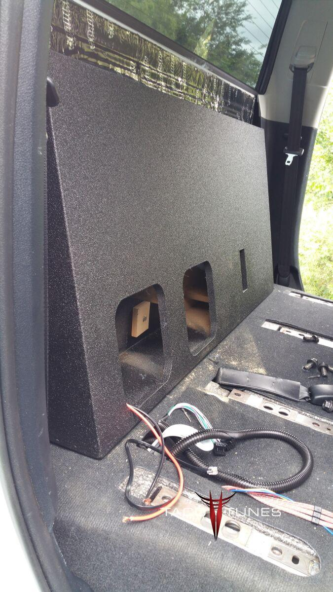 2014+ Toyota Tundra CrewMax Ported Subwoofer Box Dual Kicker L7 Solobaric 8  subwoofers