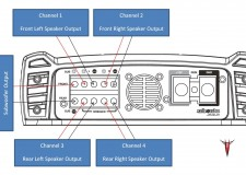 Exile Javelin Amplifier wiring diagram and channel layout