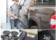 Chris's Toyota Tundra 1794 audio Installation pics