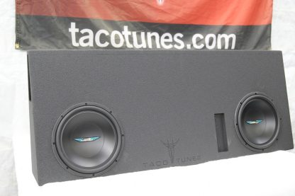 Toyota Tundra CrewMax Ported 12 inch subwoofer box tacotunes