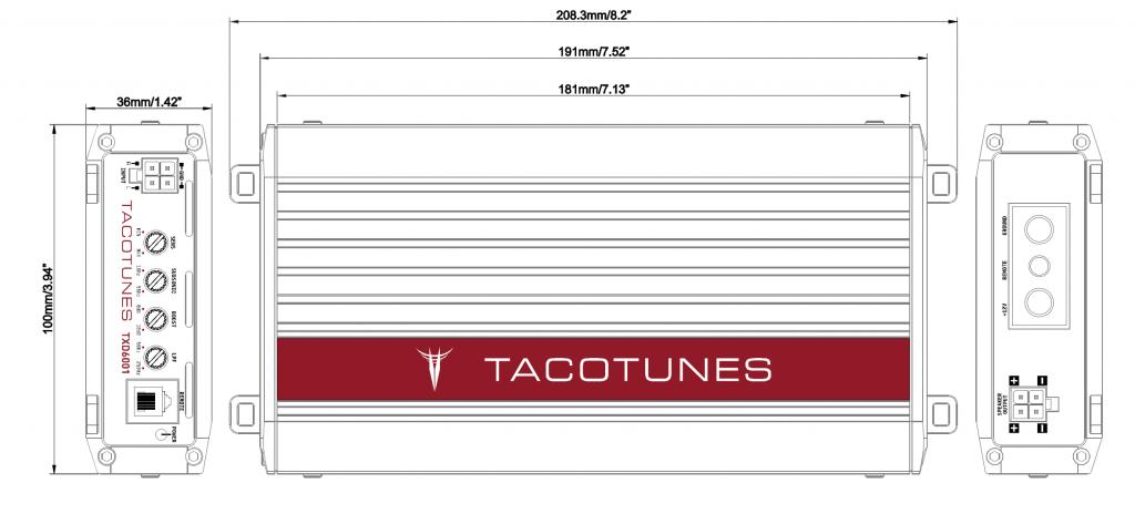 tacotunes txd6001 dimensions