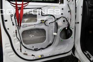 Red McCombs Toyota Tundra CrewMax Plug n Play audio system upgrade