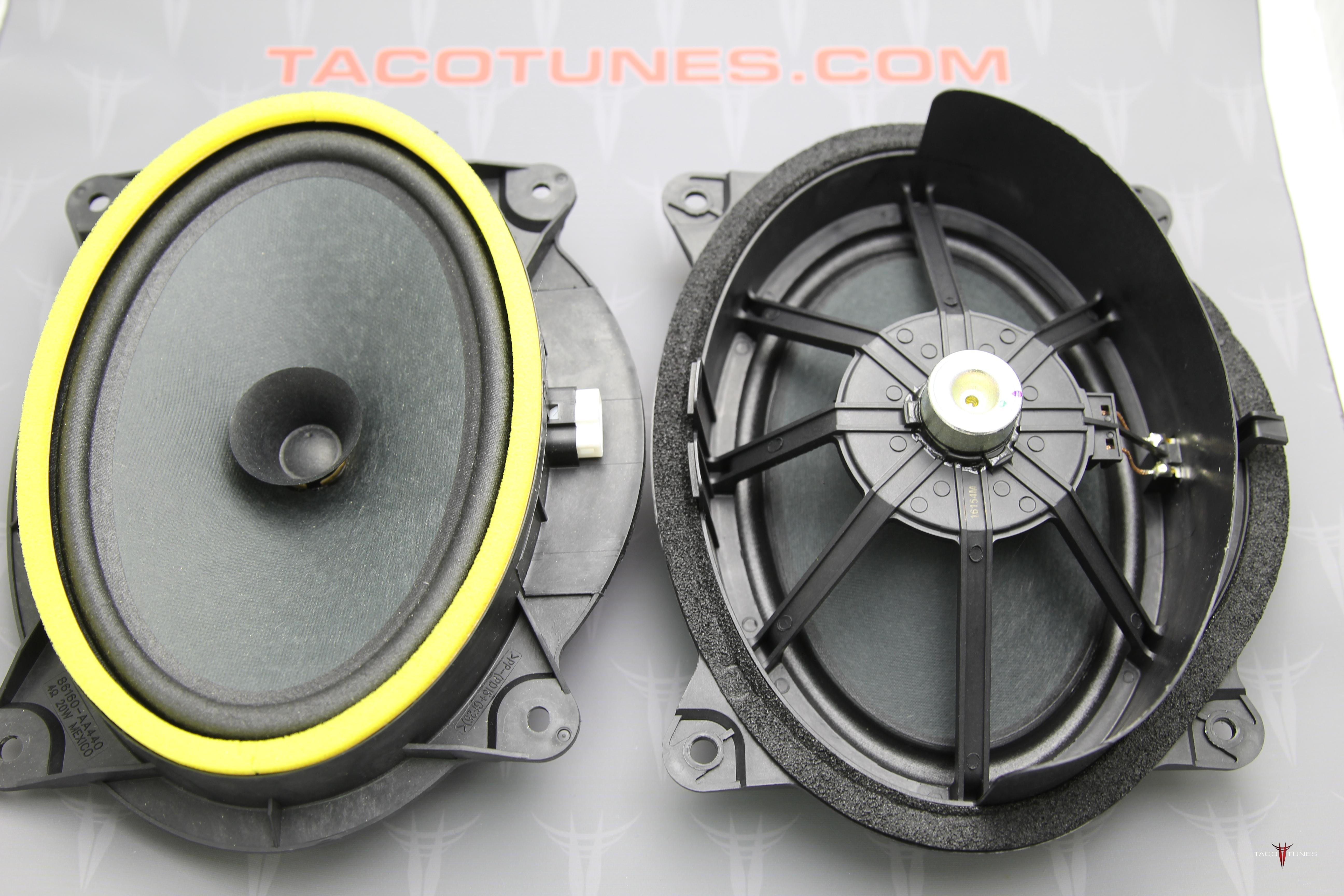 2005 2015 Toyota Tacoma Front Door Speakers toyota tacoma double cab audio stereo speaker subwoofer upgrade  at reclaimingppi.co