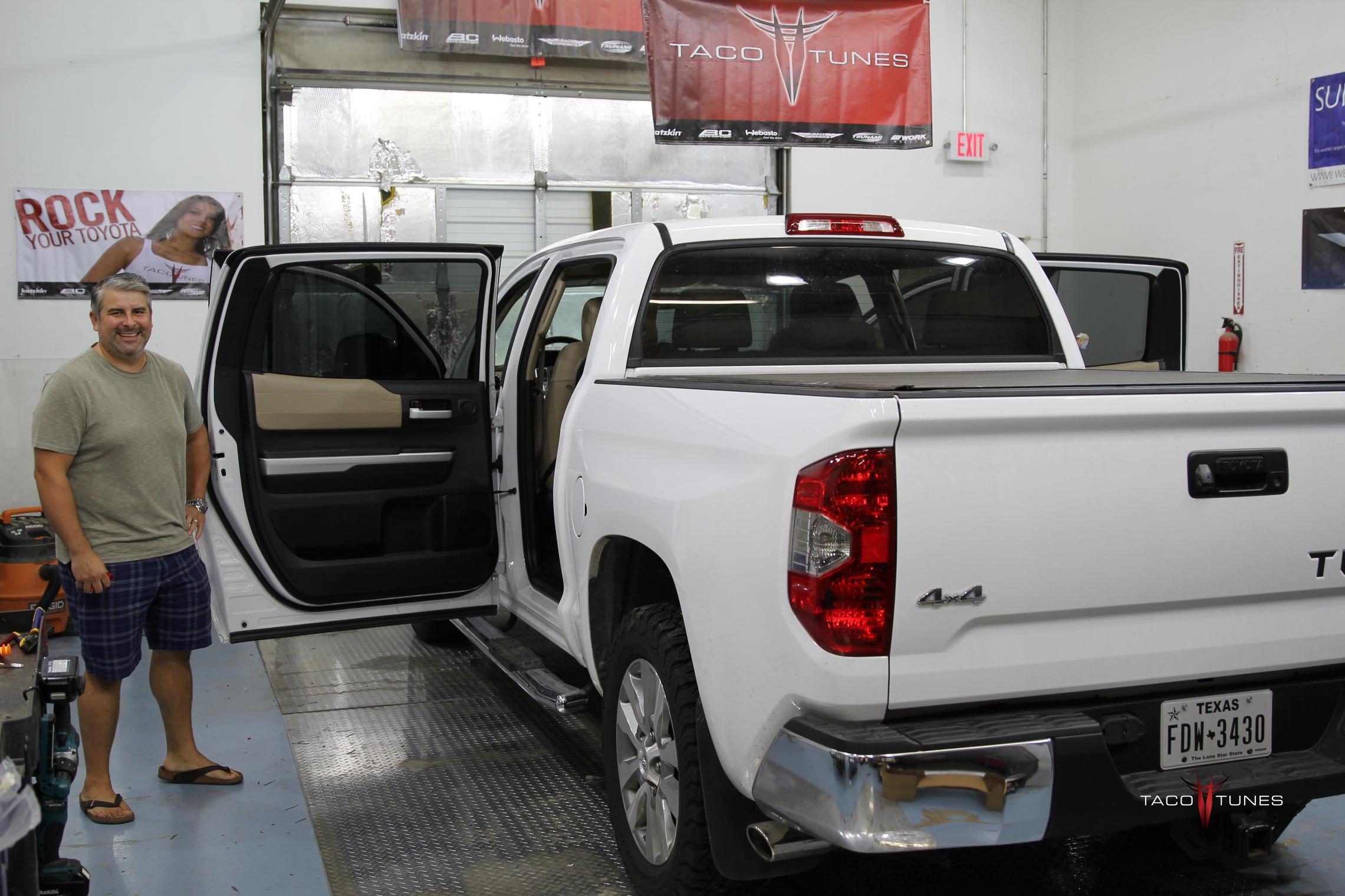 Jons 2015 Toyota Tundra CrewMax Limited Audio System Upgrade Austin TX