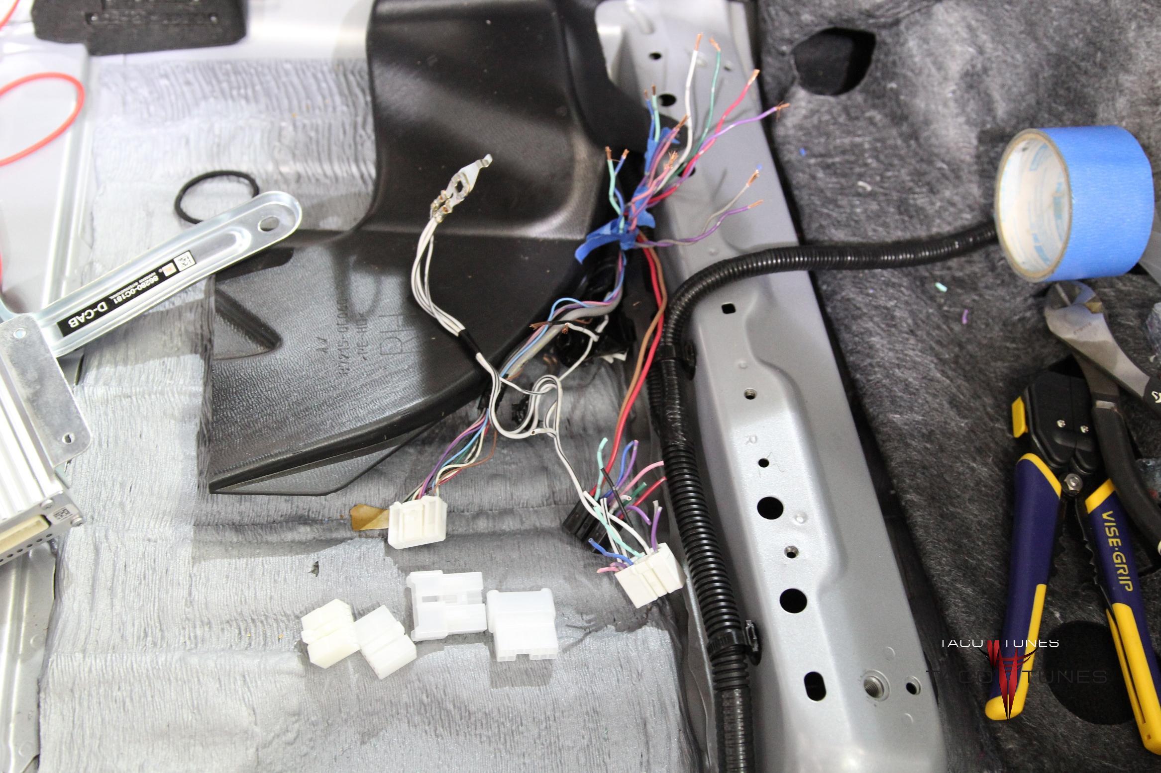 toyota wire harness repair tundra jbl harness repair process - taco tunes - toyota ... auto wire harness repair #15