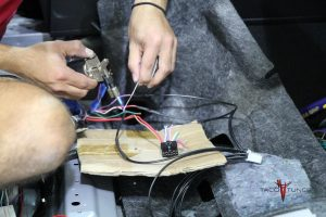 Soldering new harness back to stock wiring