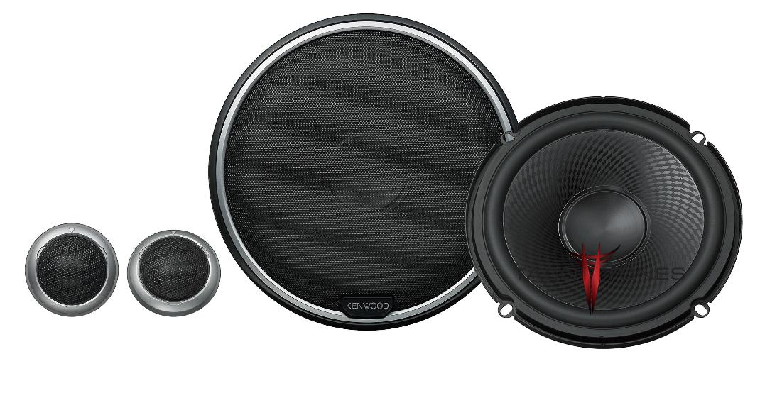 Kenwood KFC-P710PS Component Speakers Toyota Tacoma