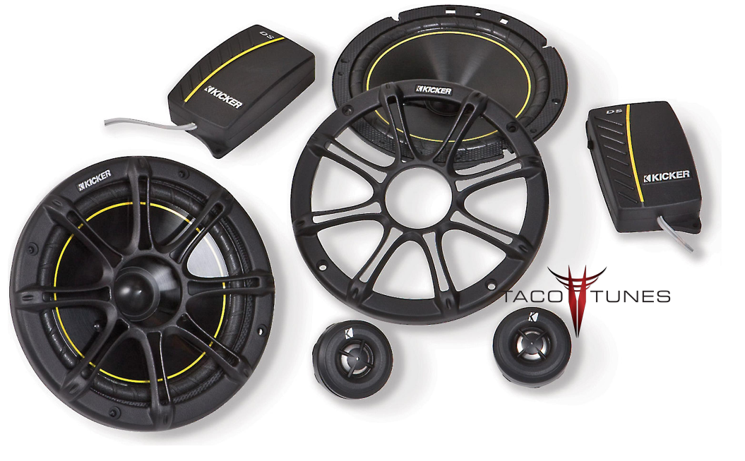 Kicker DS6.2 Component Speakers Toyota Tacoma