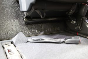 """Toyota Tundra Stock Tacotunes 10"""" dual subwoofer"""
