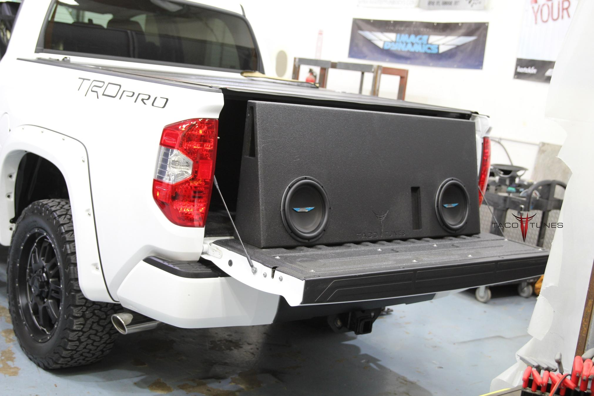 toyota tundra crewmax subwoofer upgrade installation full size 10 subs taco tunes. Black Bedroom Furniture Sets. Home Design Ideas