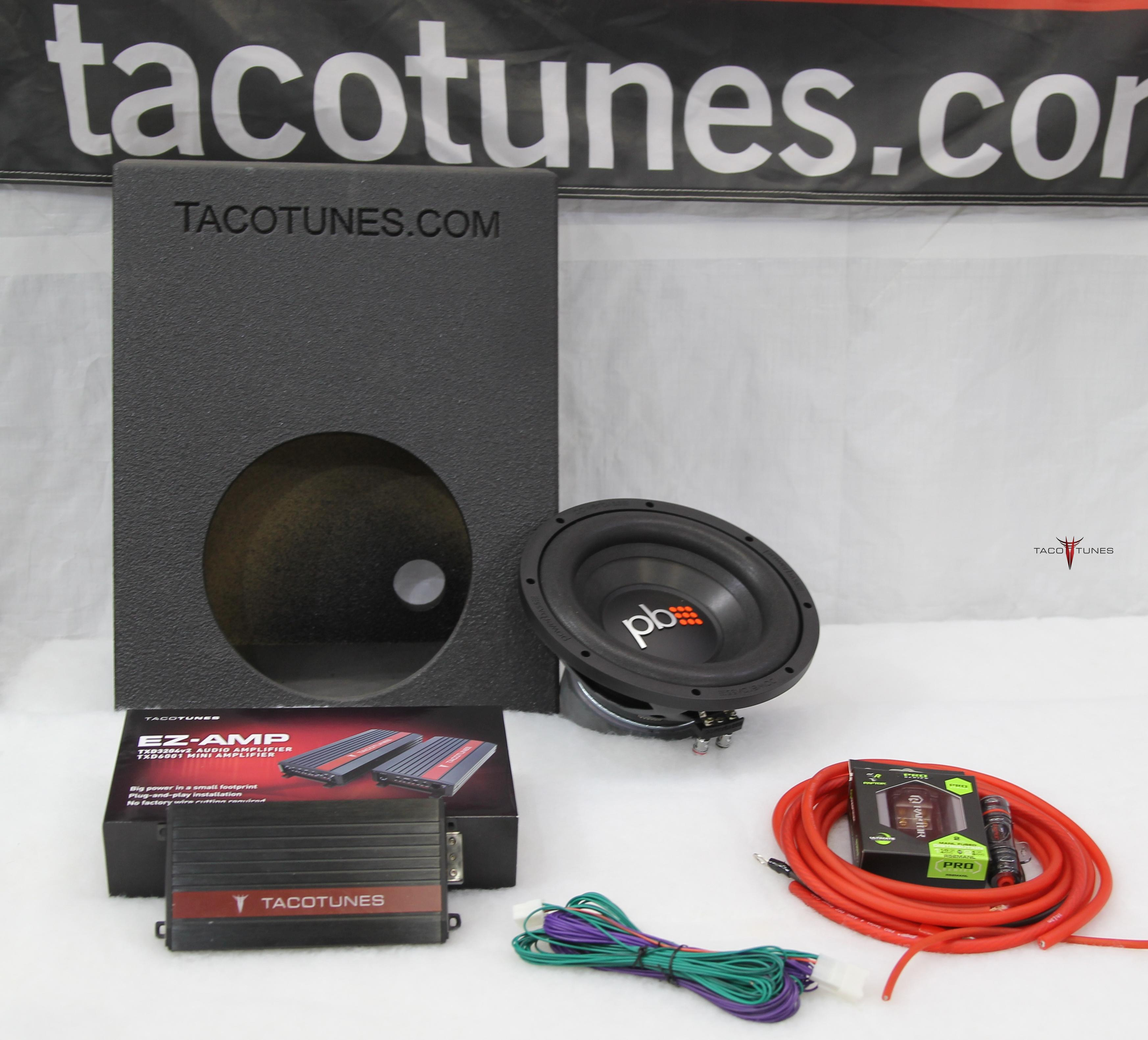 Toyota Tacoma add a subwoofer packaged system - PowerBass Subwoofer &  Tacotunes 600 watt amp