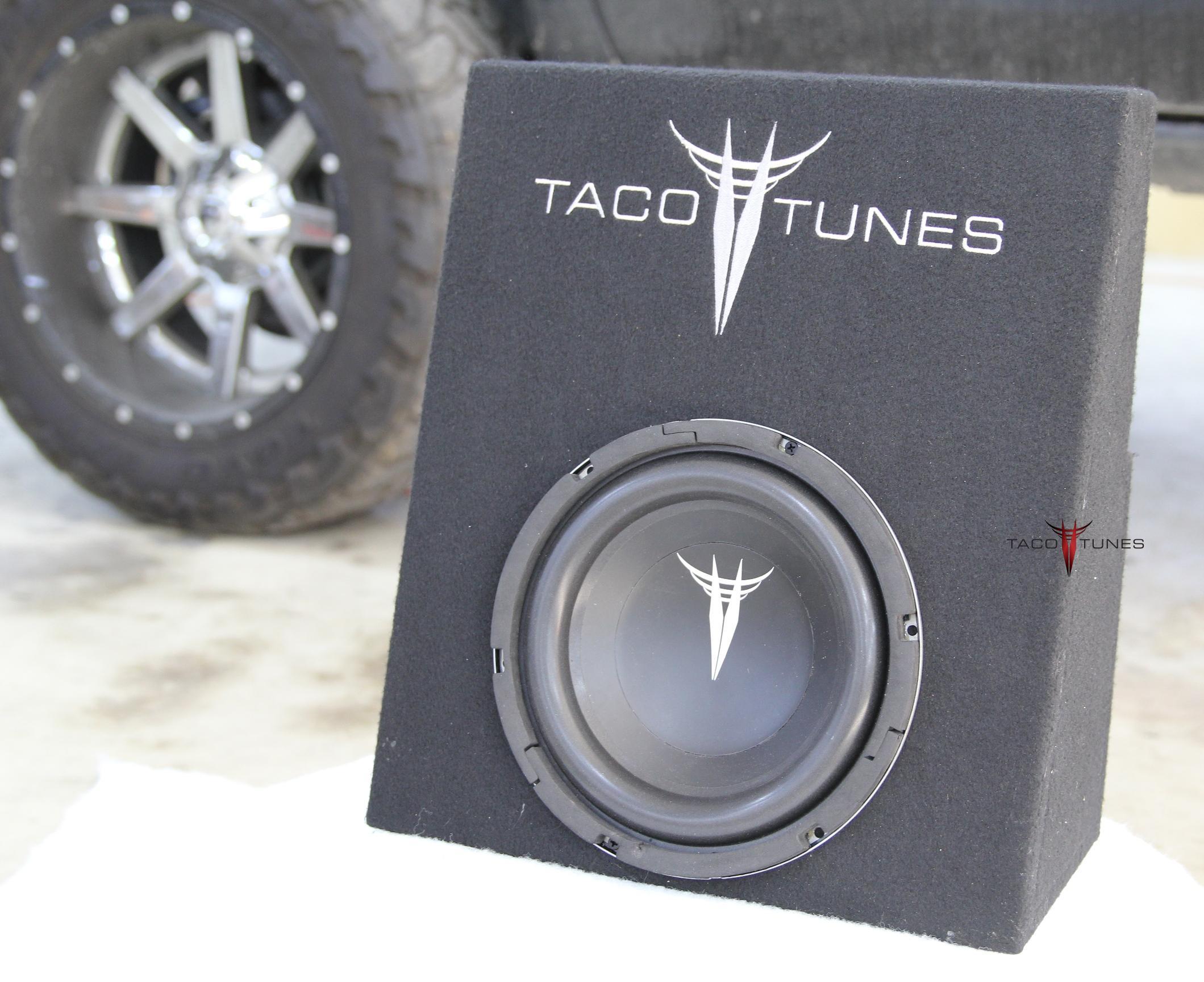 tacoma 10 subwoofer box and subwoofer packaged 2005 2018. Black Bedroom Furniture Sets. Home Design Ideas