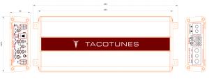 tacotunes TXD8005 5 channel amplifier drawing measurements