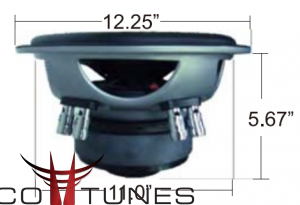 toyota 4 runner subwoofer box mounting depth diameter subwoofer